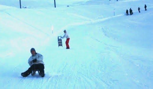 Plastic sledges for beginners