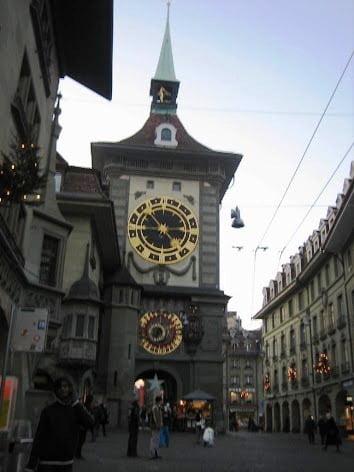 Tower clock in Bern