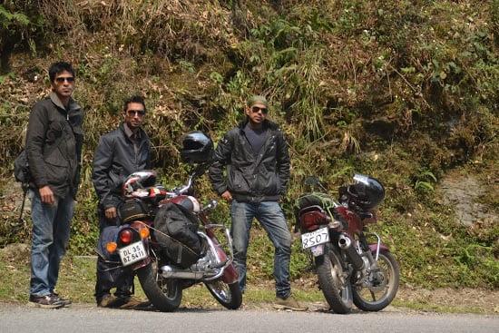 Trip mates Sounak, Anirban and Chiro