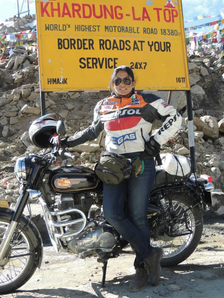 Dr Aparna Bandodkar at Khardungla
