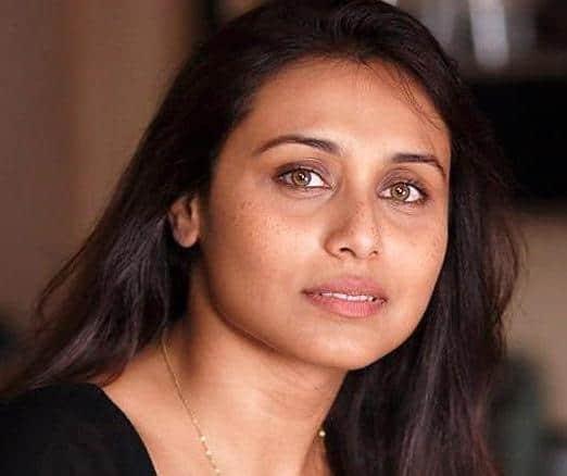 freckled Rani Mukherjee