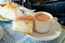 Brun Maska, Parsi café, Irani chai