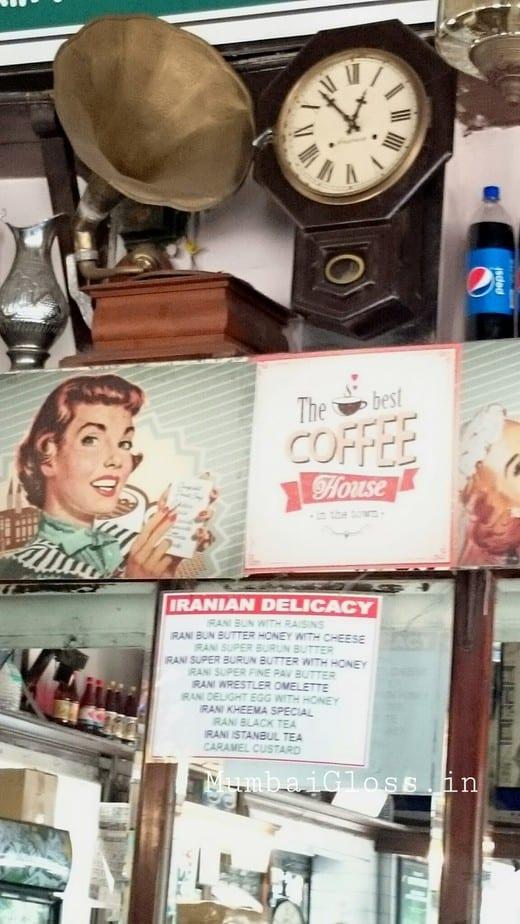 old heritage property Mumbai,  vintage café, Kheema pao, Irani chai